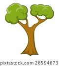 Branchy tree icon, cartoon style 28594673