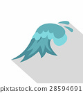 Clear wave icon, cartoon style 28594691