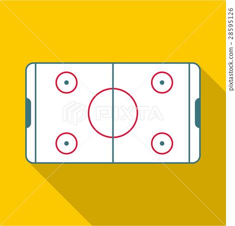 Ice hockey rink icon, flat style 28595126