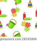 Childrens toys pattern, cartoon style 28595806