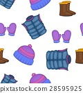 Winter clothing pattern, cartoon style 28595925