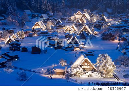 岐阜_白川鄉雪亮了 28596967