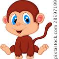 monkey, cartoon, baby 28597199