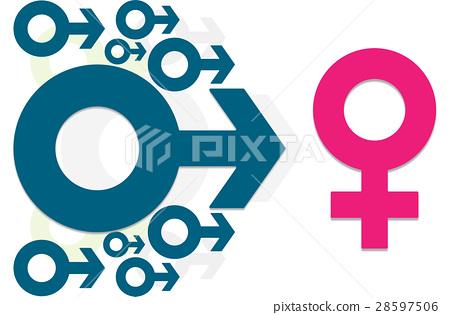 Menwomen Symbollefemale Sign Sexual Concept Stock