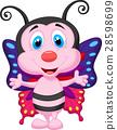나비, 밑그림, 벡터 28598699