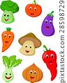 Cute vegetable cartoon 28598729