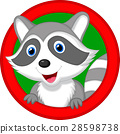 Cute raccoon cartoon posing 28598738