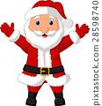 Santa cartoon waving 28598740