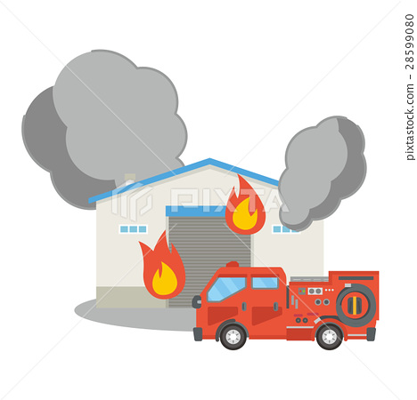 storage, warehouse, fire 28599080