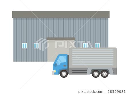 倉庫和卡車 28599081
