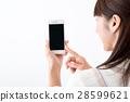年輕的女士,家庭主婦,智能手機 28599621