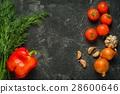onion garlic tomatoes 28600646