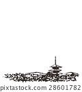 교토 오층탑 수채화 28601782
