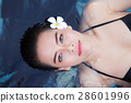 Attractive young asia woman floating 28601996