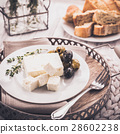 Feta cheese with olives 28602238