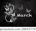 Chalk eight with butterflies 28603779