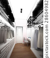 abstract sketch design of interior walk-in closet  28604982