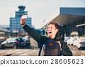 Airport, traveler, selfie 28605623