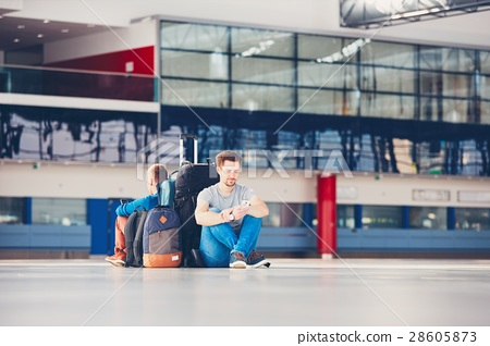 Travelers waiting for departure 28605873