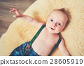 Cheerful baby at home 28605919