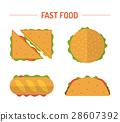 illustration, icon, hamburger 28607392