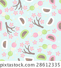 Hanami festival  seamless pattern  28612335