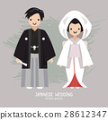 Vector illustration of Japanese  wedding  28612347