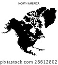 North America map on white background. 28612802