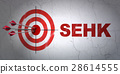 Stock market indexes concept: target and SEHK on 28614555