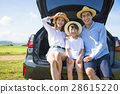 family enjoying road trip and summer vacation 28615220