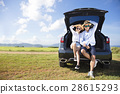 couple enjoying road trip and summer vacation 28615293