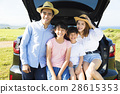 family enjoying road trip and summer vacation 28615353