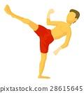 Karate icon, cartoon style 28615645