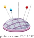 Needle bar icon, cartoon style 28616037