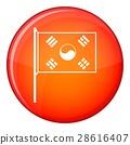 South Korea flag icon, flat style 28616407