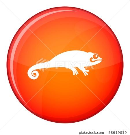 Chameleon icon, flat style 28619859