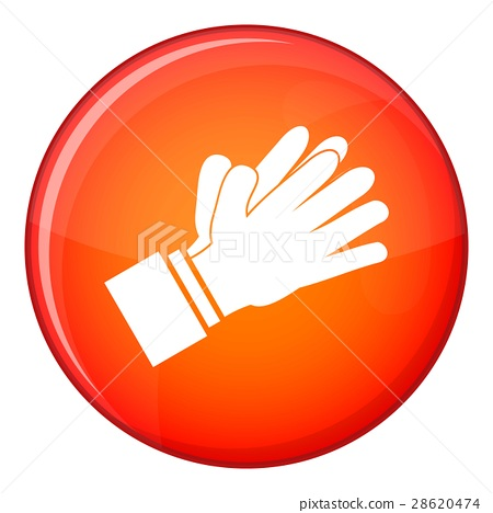 Clapping applauding hands icon, flat style 28620474