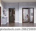 3d illustration hall interior design 28625669