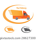Fast truck delivery logo design element template 28627300