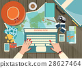 Top view of Travel planning. 28627464