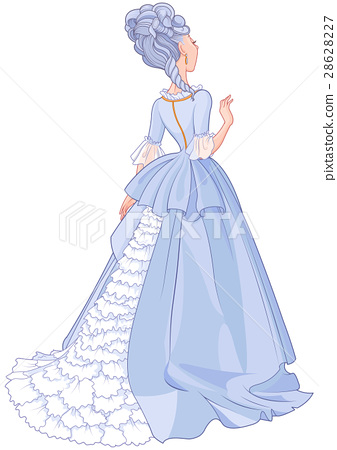 Lady in Beautiful Blue Dress 28628227