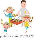 家庭享受燒烤 28628977