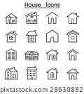 House icon set in thin line style 28630882
