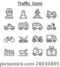 Traffic & Transportation icon set thin line style 28630895