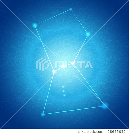 Abstract Blue Orion on Tangle Line Background 28635032