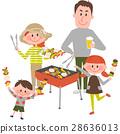 家庭享受燒烤 28636013