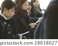高中女生 考試結果公佈 考試中的學生 28638027