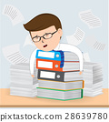 Busy Businessman Working, Business Concept vector 28639780