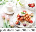蛋糕 华夫饼 草莓 28639784
