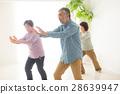 태극권을하는 건강한 일본인 수석 남녀 28639947